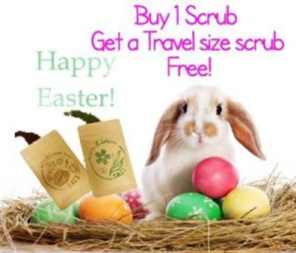 Happy Easter! Get a travel size Scrub for free!